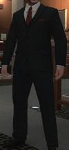 Chaqueta botones hierro chaleco pantalones obsidiana GTA IV
