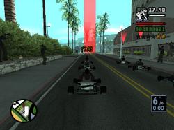 Comienzo de la carrera GO-GO-Karting