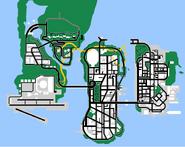 Mapa Beta de GTA LibertyCityStories