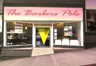 Barbers pole exterior-queens-sanfierro