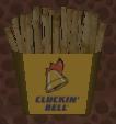 Papas fritas cluckin' bell