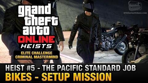 GTA Online Heist 5 - The Pacific Standard Job - Bikes (Criminal Mastermind)