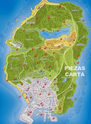 50 Fragmentos de la carta mapa