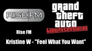 "GTA Liberty City Stories - Rise FM Kristine W - ""Feel What You Want"""