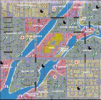 Mapa de Liberty City de gta 1