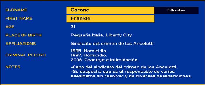 Frankie garone