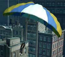 Luis con un paracaídas
