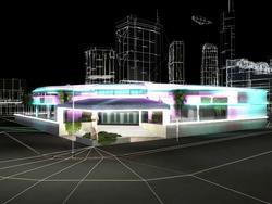 GTAVC The Lab Malibu Club Exterior Render 2