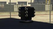 Vista cercana lanzagranadas remoto Pounder personalizado