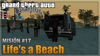 GTA San andreas - Misión 17 - Life's a Beach Sin bailar (Español - 1080p 60fps)