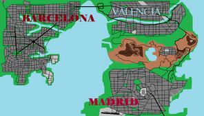 Mapa Historias Gta Barcelona Stories