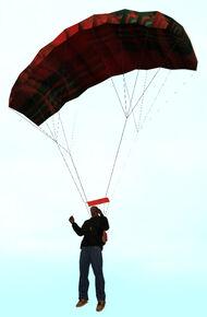 CJ Usando el paracaídas
