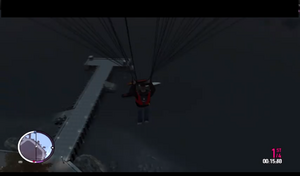 Luis aterrizando