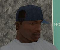 Gorra azul lado