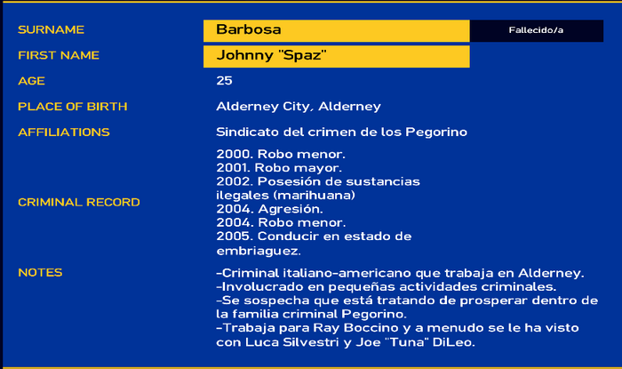 Johnny barbosa LCPD