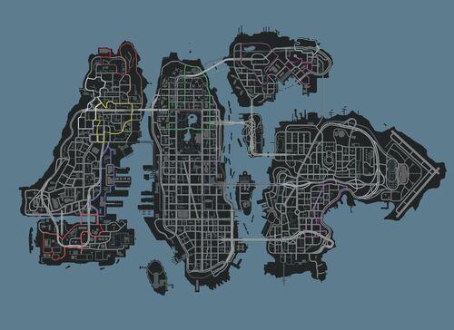 Liberty city IV-Carreras TLAD Mapa