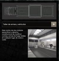 Taller de armas y vehículos COM
