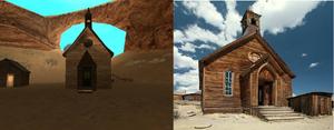 Comparación iglesia