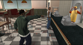 Ryder asaltando la pizzeria