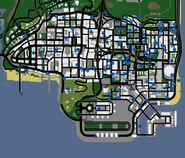 Mapa de grafitis - los santos (gta san andreas)