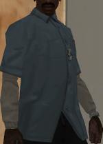 Camisa celeste de zip