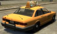 Taxi Vapid detrás GTA IV