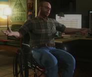 Lester en silla de ruedas