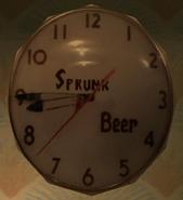 Reloj de Sprunk Beer