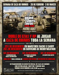 GTA Online - Semana Caza de Rhinos - Imagen Promocional