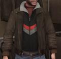 Chupa cuero y chaqueta chándal negra GTA IV.png