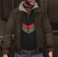 Chupa cuero y chaqueta chándal negra GTA IV