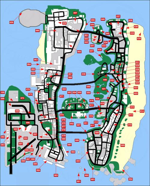 Mapa objetos ocultos VC