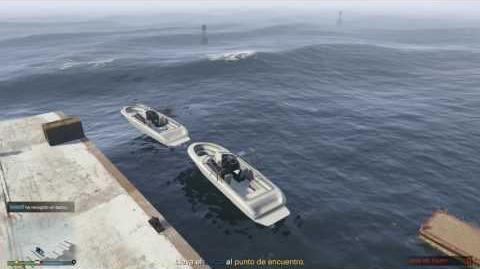 """Gta V - Misión """"Mercancía Frágil"""" Martin (Español) 2 Barcos"""