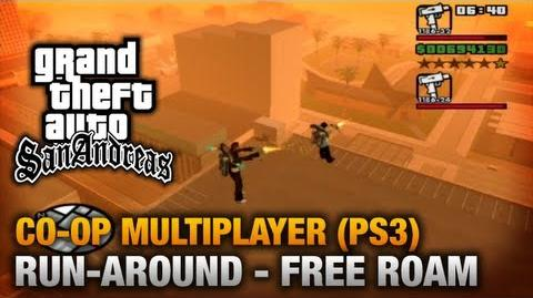 GTA San Andreas - PS3 - Run-around (Free Roam) Co-Op Gameplay