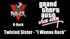 "GTA Vice City - V-Rock Twisted Sister - ""I Wanna Rock"""