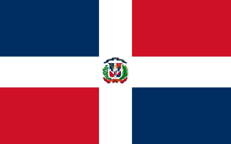 Resultado de imagen de bandera republica dominicana
