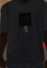 Camisa ZIP gris en probador