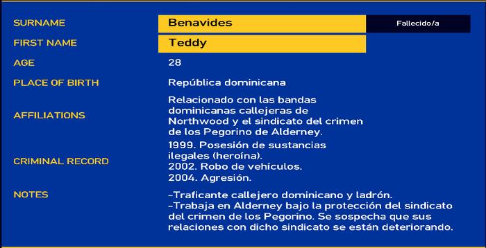 Teddy benavides LCPD