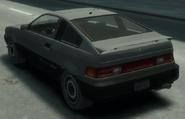 Blista Compact detrás GTA IV