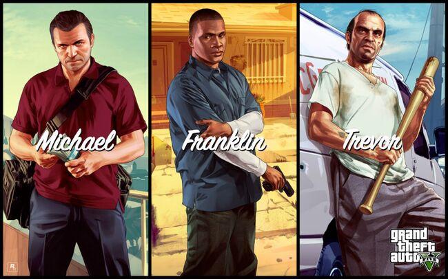 Michael, Franklin y Trevor Artwork