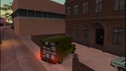 Acaparamiento entregando el camión