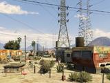 Parque de caravanas hippie