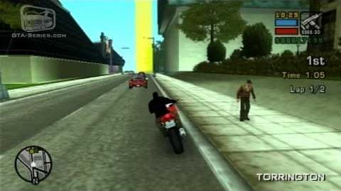 GTA Liberty City Stories - Street Race - Torrington TT