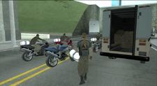 Los ladrones con los paquetes