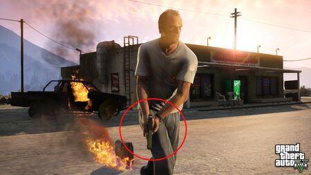 Trevor con una Glock. 17 personalizada (posiblemente)