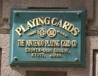 Placa oficial de la sede de Nintendo