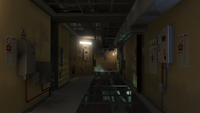 Laboratorios Humane pasillo servicios