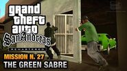 GTA San Andreas Remastered - Mission 27 - The Green Sabre (Xbox 360 PS3)