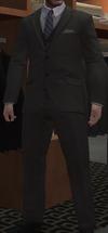 Chaqueta botones ébano chaleco pantalón carbón GTA IV