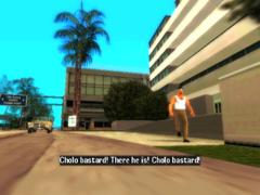 El Cholo corriendo frente al hospital